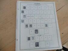 L85 Lot of Zanzibar & Zaire Congo Minkus binder 9 Pages w/ 5 stamps