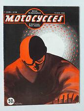 ANCIENNE REVUE MOTOCYCLES N° 38 - 15 JUIN 1950 *