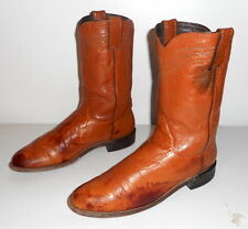Cowboy Boots Justin Mens Size 9 C Narrow Distressed Tan Grunge Boho Womens 10.5