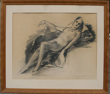 Erik Jerken (1898-1947) Reclining female nude. Dated 1941