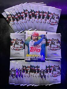 45 Packs Lot Of 2020 TOPPS CHROME UPDATE BASEBALL w/ Bonus Hanger Box!!!!!