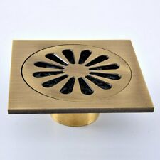 Antique Brass Square Floor Waste Grates Bathroom Shower Drain Floor Drain