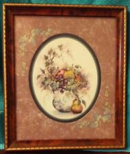 Homco Home Interior Picture Vgc Artist F. Buckley Pitcher of Fruit & Greenery