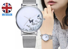 Women Dress Watch Butterfly Quartz Wristwatch New Fashion Stainless Steel