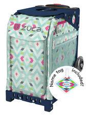 ZUCA Bag CHEVRON Insert & Navy Blue Frame w/Flashing Wheels - FREE SEAT CUSHION