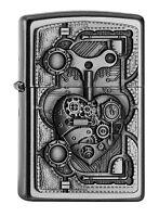 ZIPPO Benzin Feuerzeug Steampunk Heart Emblem 2005032 NEU OVP