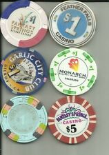 6 MISC CASINO CHIPS #24