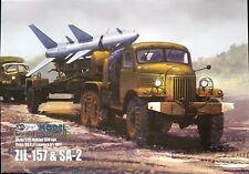 Soviet truck ZIL-157 with SA-2 missile 1:25 paper model kit 60cm long