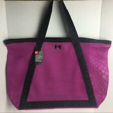 Under Armour 1309730 002 X Large Mesh Gotta Have It Tote Gym Beach Pink/Black