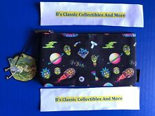 Loungefly Rick And Morty Zip Pouch, Galaxy Print, Cosmetic/Coin Bag New