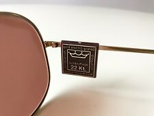 Vintage Zeiss 5602 Sunglasses nos Aviator 80 S Large West Germany 22k Gold Plated