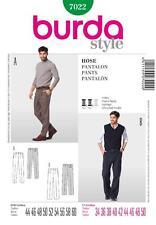 Burda patrón de costura para hombre recto trousesrs Pantalones Tallas 34 - 50 7022