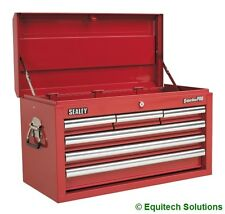 Sealey Tools AP33069 Red Top Chest Toolbox Ball Bearing Runners Slides 6 Drawer