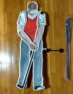 "Golfer Whirligig Spinner - 36"" Plastic and Metal by Wind Designs"