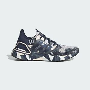 RARE EXCLUSIVE Adidas Ultraboost 20 FV8357 Navy Pink Camo Womens Running Shoes