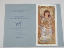 Edna Hibel Lithograph Wendy, Child of America