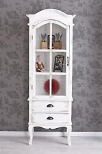 Standing Shelf Cabinet Shabby Rack Display Case Wooden Dresser Wood