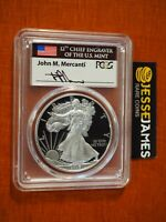 2017 W PROOF SILVER EAGLE PCGS PR70 DCAM MERCANTI FIRST DAY ISSUE WASHINGTON DC