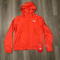 The North Face Womens Medium Thin Windwall Cyclone Hooded Jacket Cayenne Red NWT