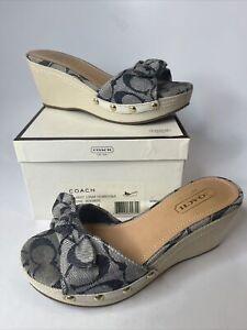 Mint Coach Womens Shoes A8207 Lorah DNW White Size 5 Width Medium Clean