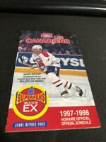 1997-98 Montreal Canadiens Hockey Pocket Schedule Mark Recchi