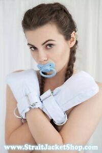 Blue ABDL Safety Mittens - Restraining soft padded mittens