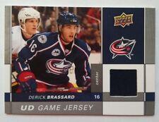2009-10 Upper Deck Game Jersey Derick Brassard Columbus Blue Jackets - DARK BLUE