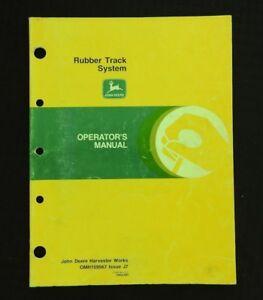 GENUINE JOHN DEERE 9500 9510 CTS II 9600 9610 COMBINE RUBBER TRACK OPER MANUAL