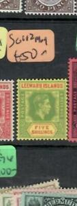 LEEWARD ISLANDS  (PP1710B) KGVI   5/-   SG 112    MOG