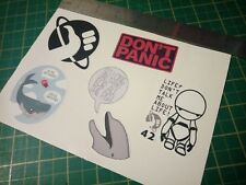 Hitchhikers guide to the galaxy sticker Set