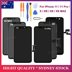 For iPhone X XR XS MAX 11 Pro LCD Screen Replacement Touch Digitizer Display AU