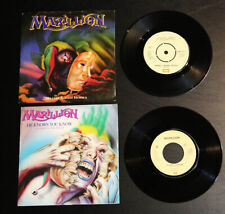 """MARILLION (2) 45 7"""" w PS  HOLLAND EMI HE KNOWS YOU KNOW & UK Market Sqare MINT"""