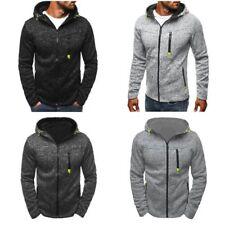 Herren Sport Kapuzenpullover Fleece Cardigan Kapuzenjacke Zip Sweatshirt Sweater