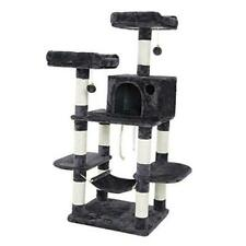 New listing Multi-Level Cat Tree for Big Cats, Stable Cat Tower Smoky Gray