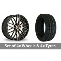 "4 x 18"" AC Wheels Syclone Black Alloy Wheel Rims and Tyres -  235/45/18"