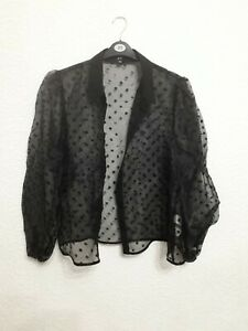 size 18 black sheer blouse from New Look