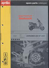 NOS Genuine Aprilia Leonardo 250 ST (2001->) Parts List Catalog Book Manual AB11