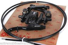 ODYSSEY EVO 2 BMX BRAKE SET - LEVER - CABLE - U BRAKE - FULL SET - BLACK