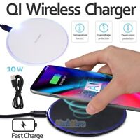 10W Qi Wireless Fast Charging Pad Charger for iPhone X XR Galaxy S8+ S8 S7 S9+