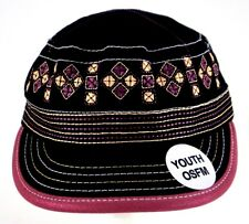 Cruel Girl OSFA Strapback Adjustable Youth Size Cap Hat Black Pink