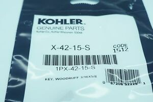 GENUINE OEM KOHLER PART # X-42-15-S FLYWHEEL KEY, KOHLER ENGINE FLYWHEEL KEY