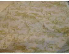 Hunt Country Pictorial Toile De Jouy Cotton Linen Weave Curtain Fabric Sable