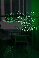 GREEN 5FT PRE-LIT LIGHT UP 200 LED BERRY CHERRY BLOSSOM TREE CHRISTMAS XMAS