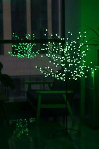 GREEN 5FT PRE-LIT LIGHT UP 200 LED BERRY CHERRY BLOSSOM TREE CHRISTMAS XMAS
