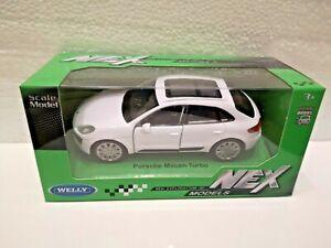 🚓 WELLY NEX CAR Scale Model PORSCHE MACAN TURBO white 1:34 - 1:39