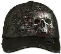 Spiral Direct DEATH RIBS Baseball Cap/Hat/Skulls/Tribal/Tattoo/Goth Cap/Darkwear