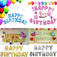 "16"" HAPPY BIRTHDAY Balloons Foil Banner Bunting Party Decoration Self Inflating"