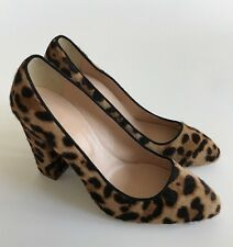 JCREW COLLECTION Stella Calf Hair Pumps 8 Hazelnut Leopard Womens NEW $350