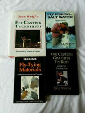 4 Vintage Fly Fishing Books Techniques Rods Design Tying Lures Fresh Salt Water