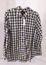 J. CREW WOMEN'S LIGHTWEIGHT BOY SHIRT OVERSIZED GINGHAM DEEP OLIVE SZ 4 NWT $60